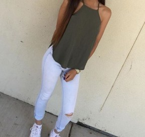 Easy And Cute Summer Outfits Ideas For School13