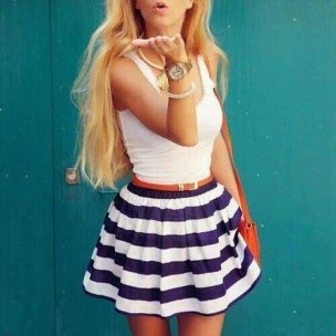 Easy And Cute Summer Outfits Ideas For School20