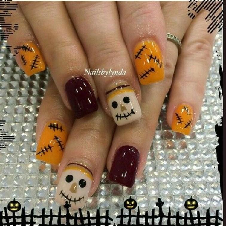 Eye Catching Fall Nails Art Design Inspirations Ideas01