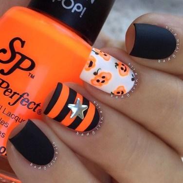 Eye Catching Fall Nails Art Design Inspirations Ideas03
