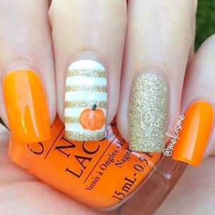 Eye Catching Fall Nails Art Design Inspirations Ideas10