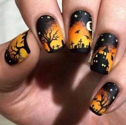 Eye Catching Fall Nails Art Design Inspirations Ideas11