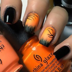 Eye Catching Fall Nails Art Design Inspirations Ideas29