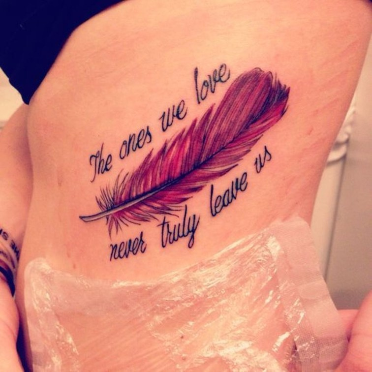 Awesome Feather Tattoo Ideas09
