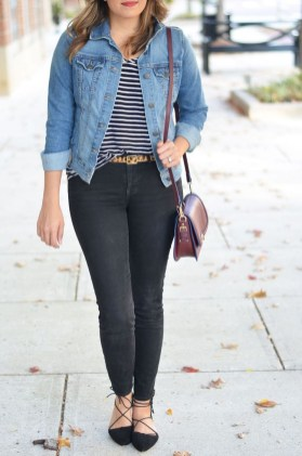 Magnificient Summer Outfit Ideas With Black Flats20