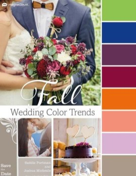 Popular Fall Wedding Color Trends Ideas17