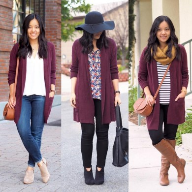 Unique Ways To Wear A Cardigan This Fall09