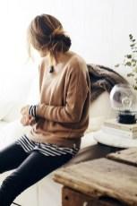 Wonderful Ways Wear Bun Fall Ideas37