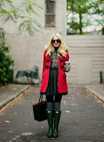 Adorable Winter Outfits Ideas Boots Skirts19