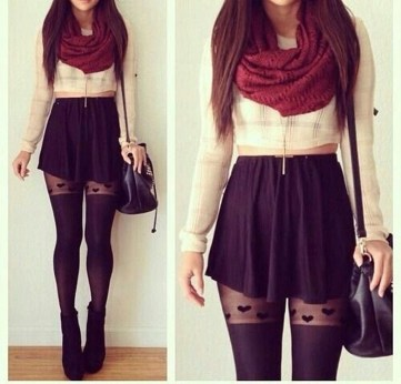 Charming Winter Outfits Ideas High Waisted Shorts07