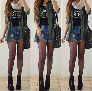 Charming Winter Outfits Ideas High Waisted Shorts20