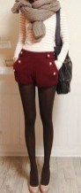 Charming Winter Outfits Ideas High Waisted Shorts33
