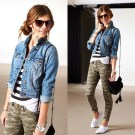 Delightful Winter Outfits Ideas Denim Jacket08