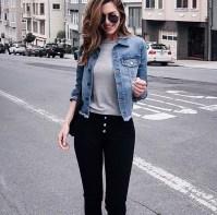 Delightful Winter Outfits Ideas Denim Jacket27