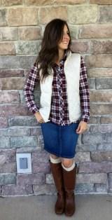 Fancy Winter Outfits Ideas Jean Skirts04