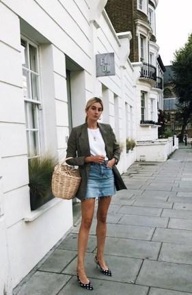 Fancy Winter Outfits Ideas Jean Skirts17