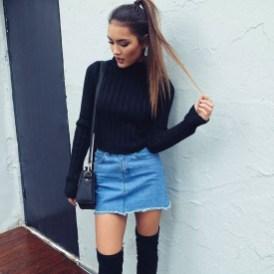 Fancy Winter Outfits Ideas Jean Skirts21