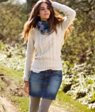 Fancy Winter Outfits Ideas Jean Skirts27