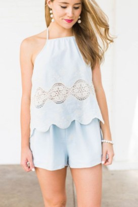 Fascinating Scalloped Clothing Ideas For Summer Outfits26