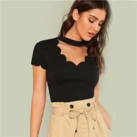 Fascinating Scalloped Clothing Ideas For Summer Outfits29