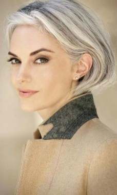 Pretty Grey Hairstyle Ideas For Women36