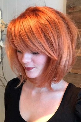 Pretty Hairstyle With Bangs Ideas34