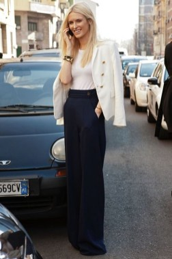 Pretty Winter Outfits Ideas High Waisted Pants16