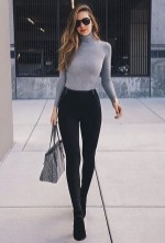 Pretty Winter Outfits Ideas High Waisted Pants24