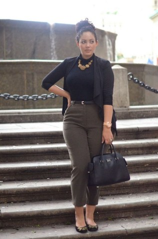Pretty Winter Outfits Ideas High Waisted Pants26