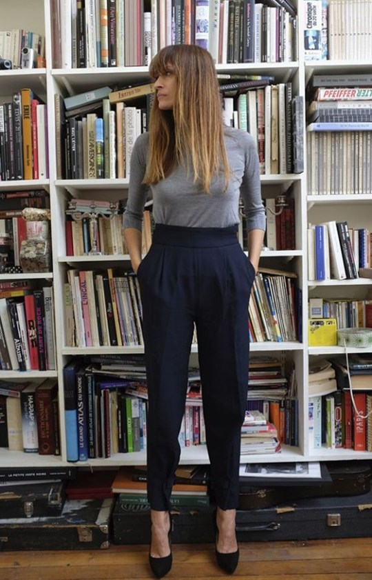 Pretty Winter Outfits Ideas High Waisted Pants39