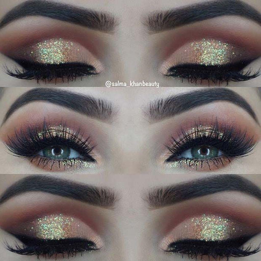 Stunning Shimmer Eye Makeup Ideas 201842