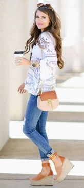 Stunning Spring Outfit Ideas With Wedges03