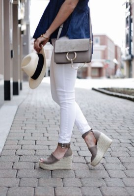 Stunning Spring Outfit Ideas With Wedges16