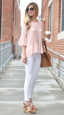 Stunning Spring Outfit Ideas With Wedges27