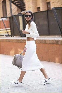 Wonderful Midi Skirt Outfit Ideas For Spring And Summer 201803