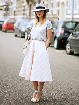 Wonderful Midi Skirt Outfit Ideas For Spring And Summer 201808