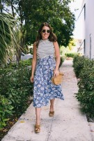Wonderful Midi Skirt Outfit Ideas For Spring And Summer 201809