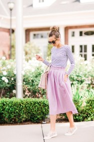 Wonderful Midi Skirt Outfit Ideas For Spring And Summer 201813