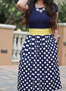 Wonderful Midi Skirt Outfit Ideas For Spring And Summer 201824