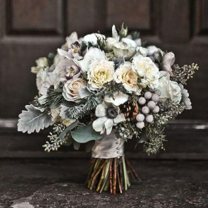 Casual Winter White Bouquet Ideas02