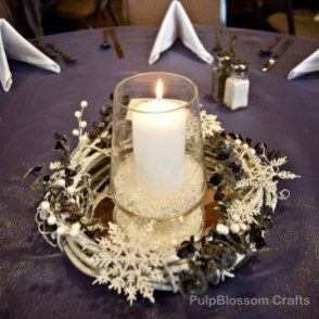 Classy Winter Wonderland Wedding Centerpieces Ideas05