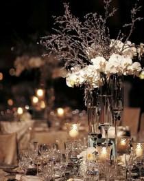 Classy Winter Wonderland Wedding Centerpieces Ideas13