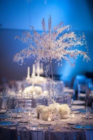 Classy Winter Wonderland Wedding Centerpieces Ideas20