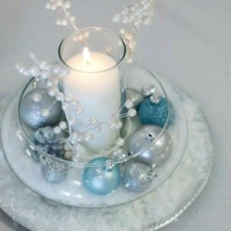Classy Winter Wonderland Wedding Centerpieces Ideas25