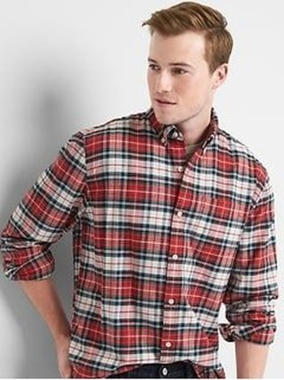 Cozy Plaid Shirt Outfit Christmas Ideas For Handsome Mens05