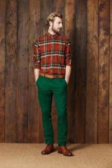 Cozy Plaid Shirt Outfit Christmas Ideas For Handsome Mens08