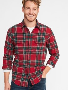 Cozy Plaid Shirt Outfit Christmas Ideas For Handsome Mens40