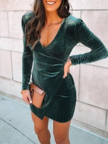 Cute Diy Wrap Mini Dress Ideas For Christmas Party38