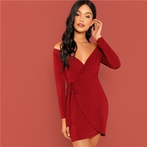 Cute Diy Wrap Mini Dress Ideas For Christmas Party41