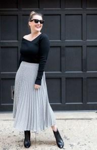 Elegant Midi Skirt Winter Ideas01
